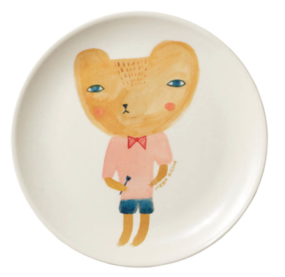 Donna Wilson Bear Bamboo Plate