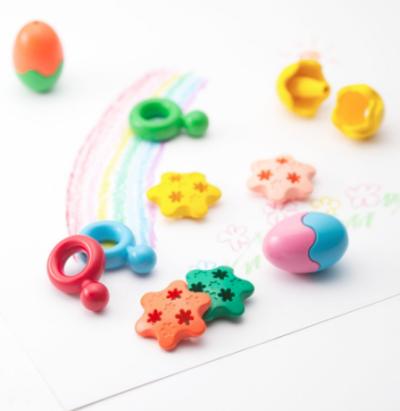 PRIMOMO Washable Crayon Eggs – Set of 6 Multicoloured